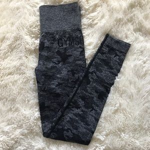 Black Camo Gymshark Leggings